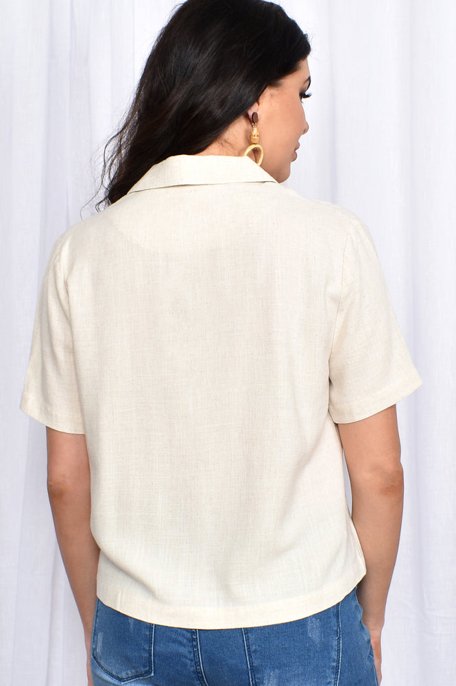 Solei Button Through Top (Natural)