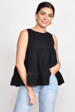 Lulu Tiered Top (Black)