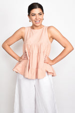 Lulu Tiered Top (Blush)