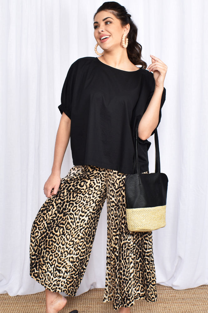 Into the Jungle Wide Leg Pant (Leopard)