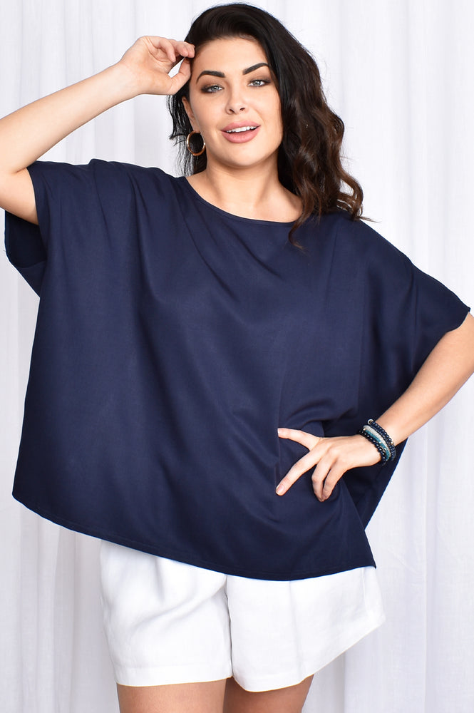 Eva Everyday Top (Navy)