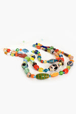 Multi Glass Bead Necklace (Multi)