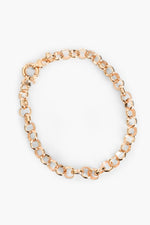 Circle Link Chain Necklace (Gold)