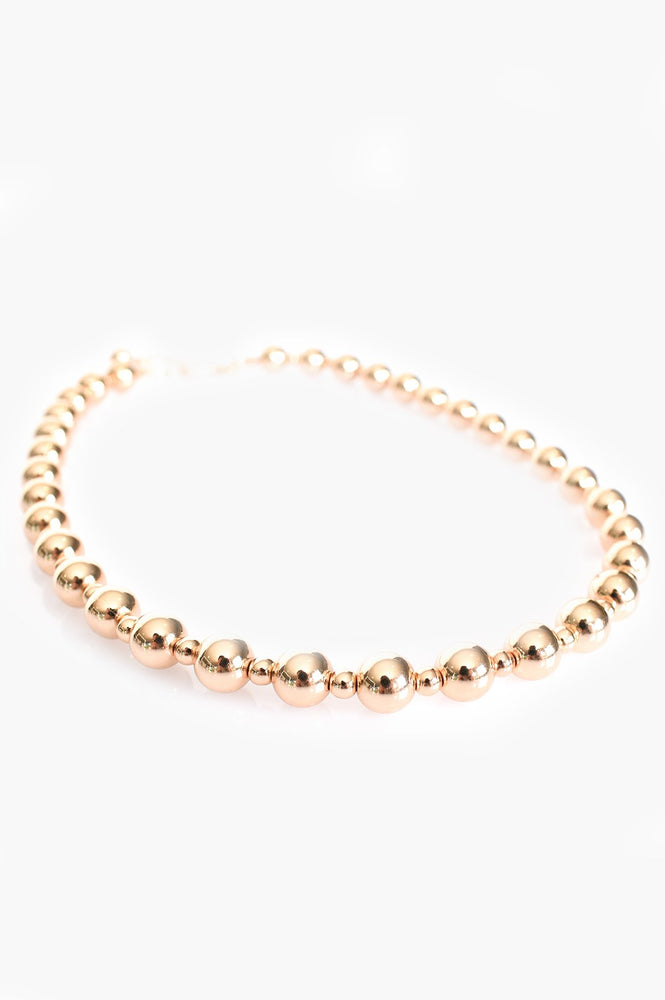 Interval Small Ball Necklace (Gold)