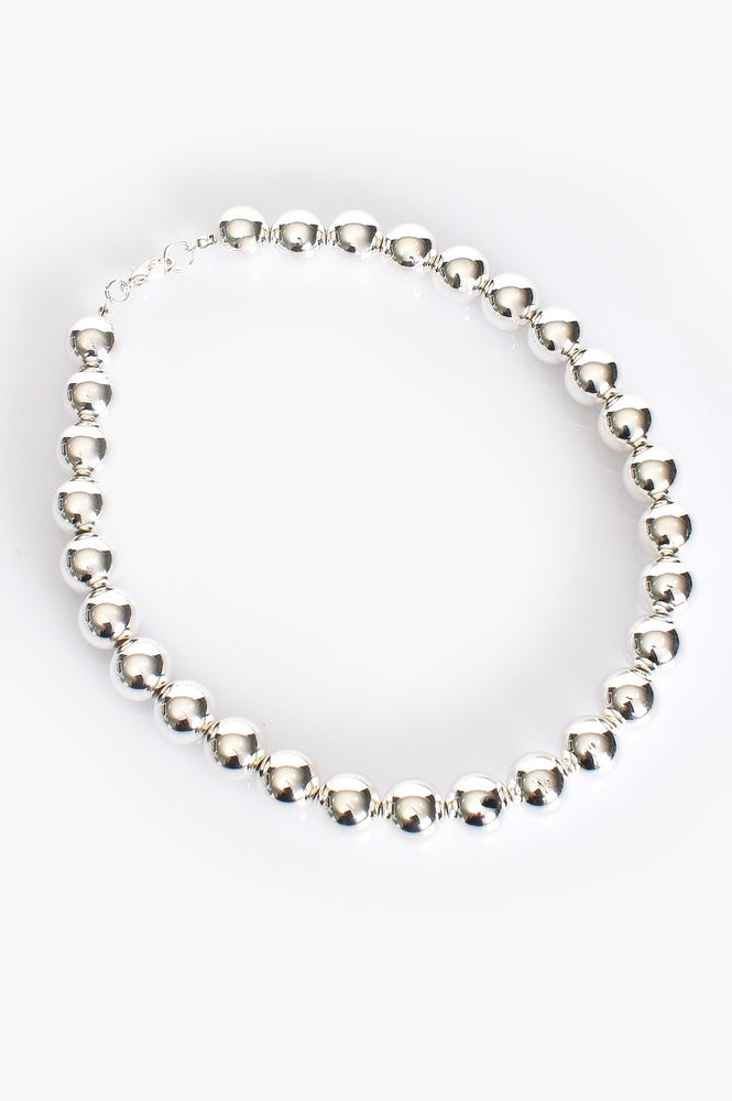 Large Ball Necklace (Silver)