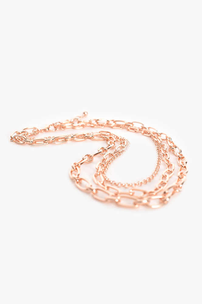 Essential Chain Layers Necklace (Rose)