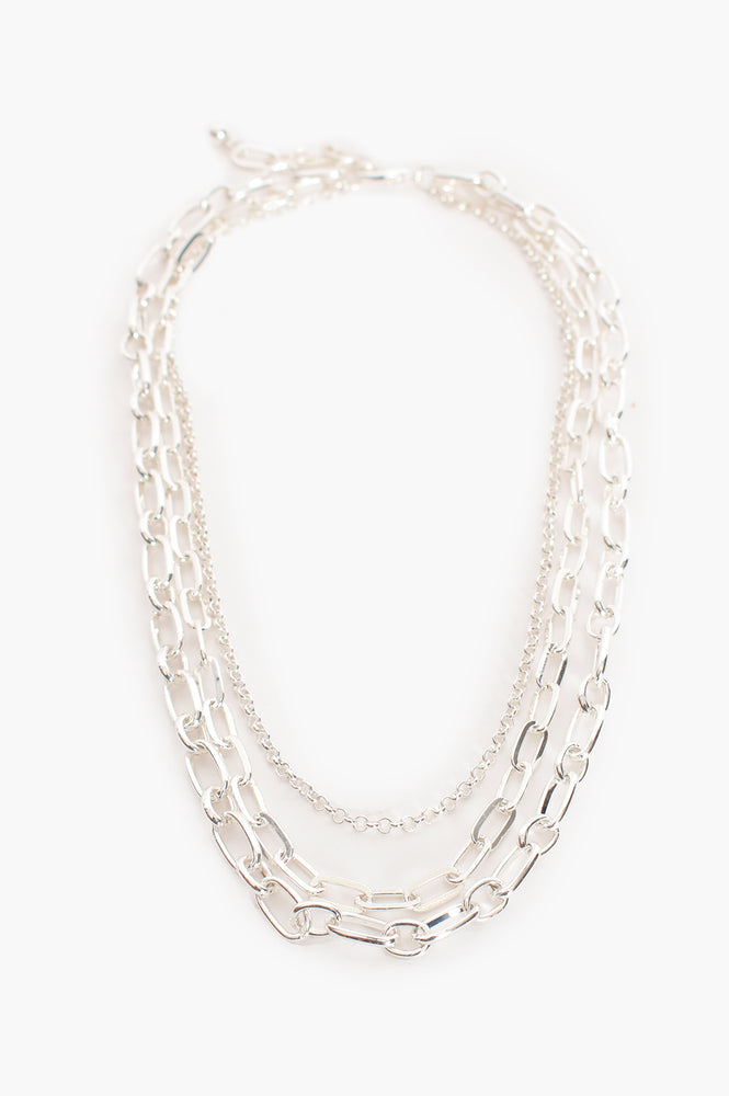 Essential Chain Layers Necklace (Silver)