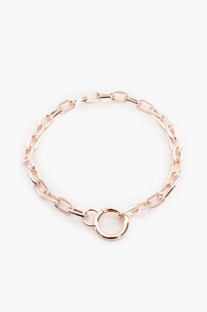 Ring Front Short Chain Necklace (Rose)