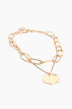 Layered Chain & Link Necklace (Gold)