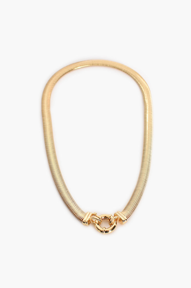 Essential Flat Snake Chain (Gold)