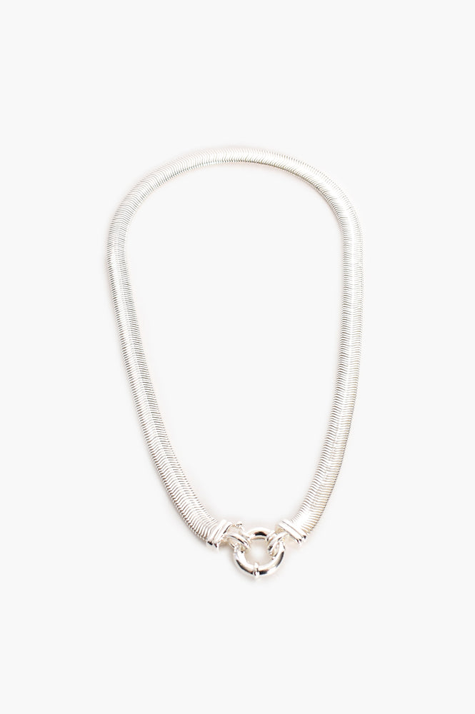 Essential Flat Snake Chain (Silver)