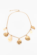 Beach Babe Shell Charms Necklace (Gold/Cream)