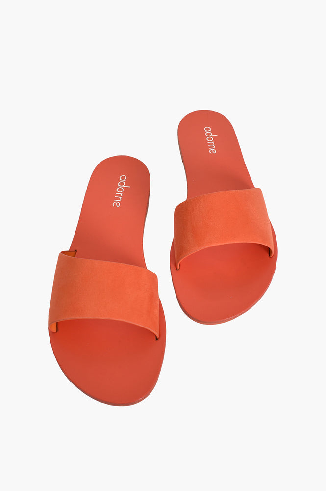 Essential Suede Slides (Apricot)