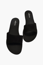 Essential Suede Slides (Black)