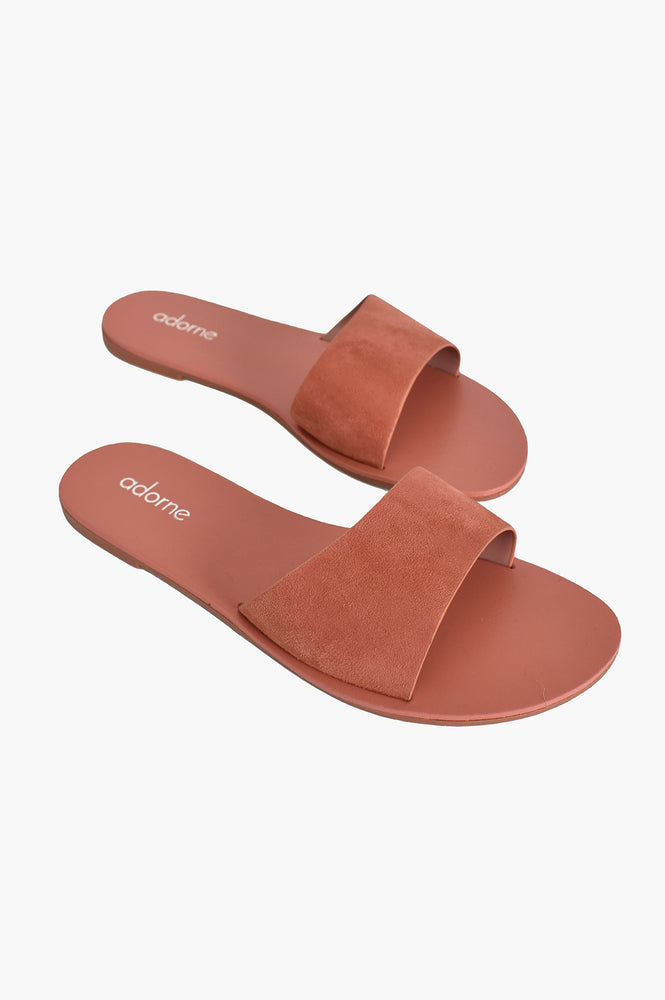 Essential Suede Slides (Pink)