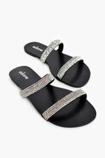 Diamante Slide (Black/Crystal)