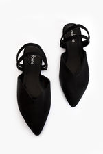 Becki Double Strap Slide (Black)