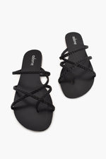 Corfu Plait Slide (Black)