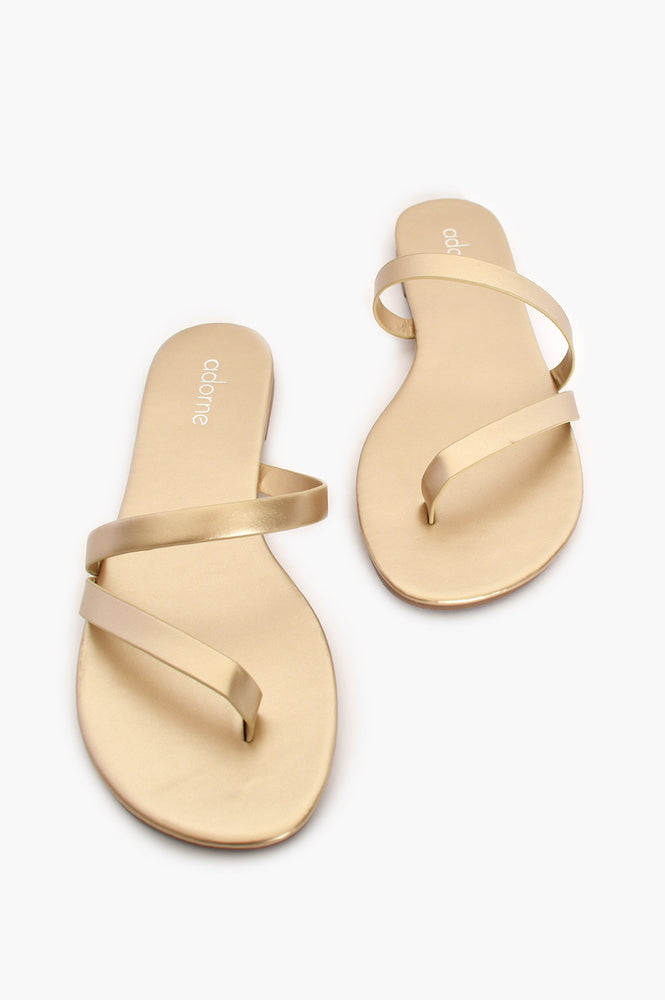Ibiza Strappy Slide (Gold)