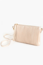 Pleated Zip Top Small Bag (Nude)