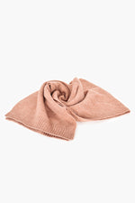Ribbed Edge Knit Scarf (Dusty Pink)