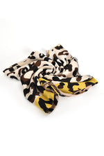 Leopard Light Weight Scarf (Grey Mustard)