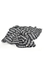 Gingham Pleat Scarf (Mono)