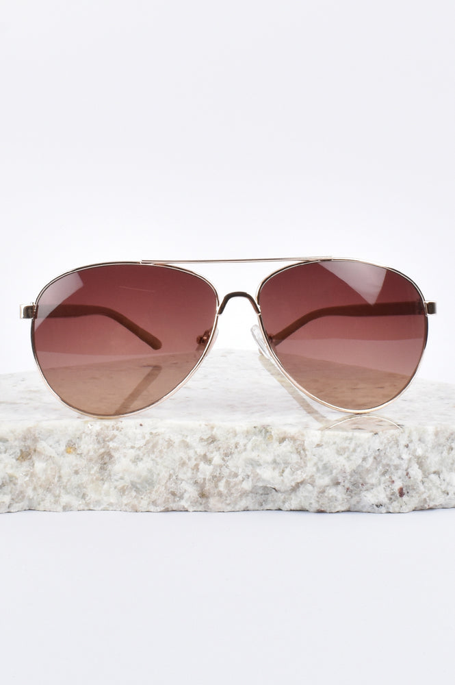 Vivi Aviator Sunglasses (Gold/Leopard)