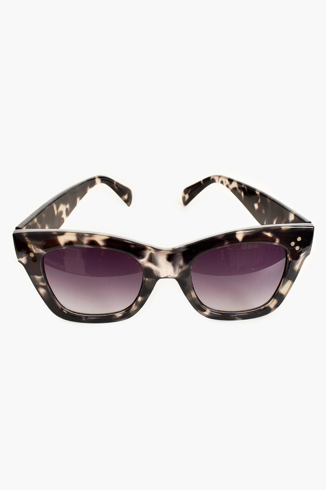 Londons Calling Oversized Sunglasses (Grey/Tort)