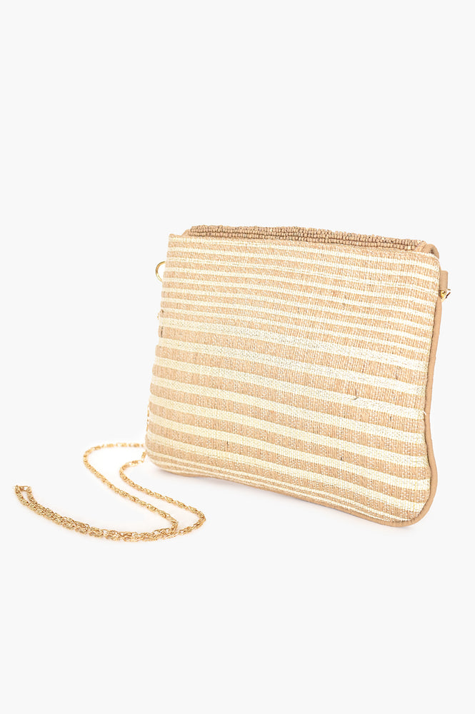 Shell Detail Flap over Pouch (Natural/ Cream)