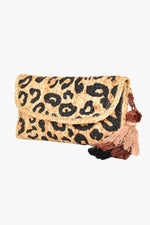 Jungle Dream Tassel Clutch (Natural/Black)