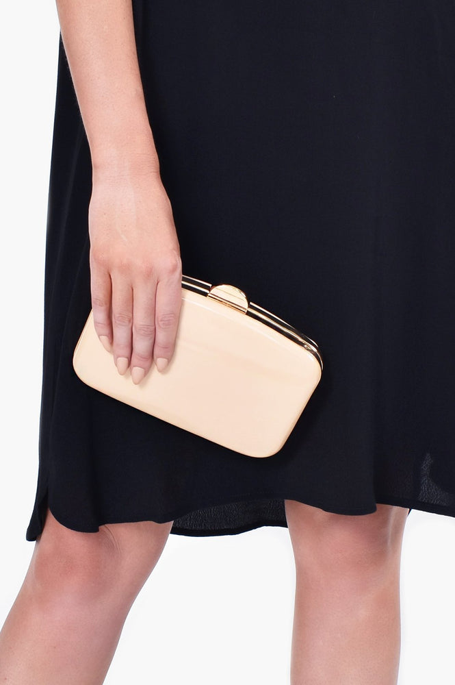 Gloss Curved Structured Clutch (Foundation)