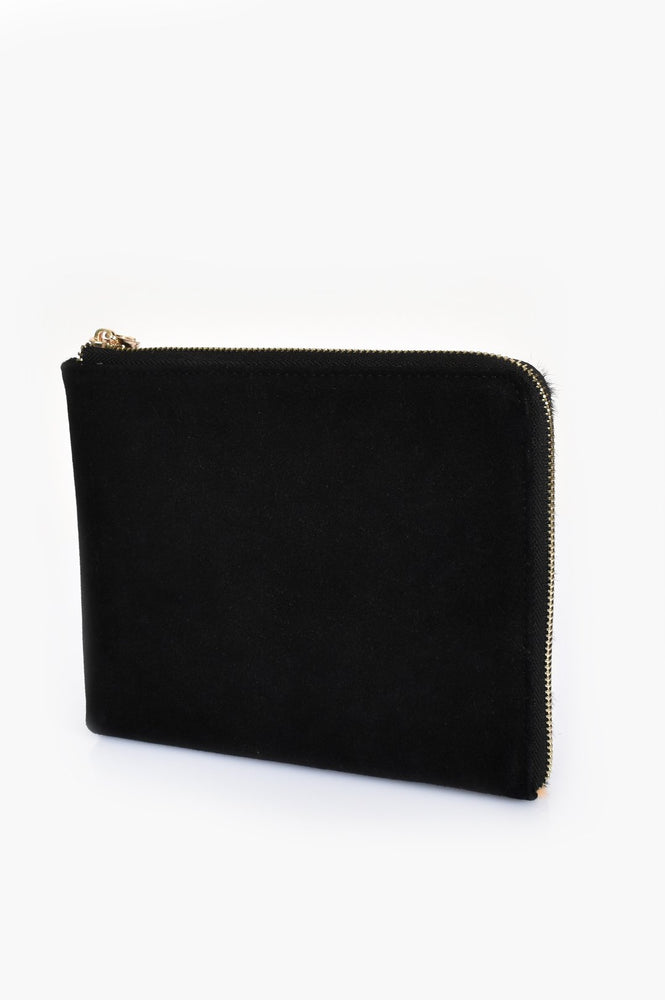 Hide Zip Around Pouch (Camel/Black)