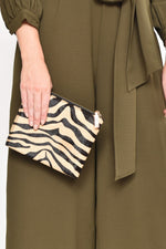 Hide Zip Around Pouch (Nude/Zebra)