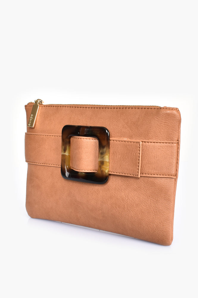 Resin Buckle Pouch (Toffee)
