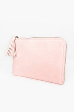 Zip Around Tassel Pouch (Pink)