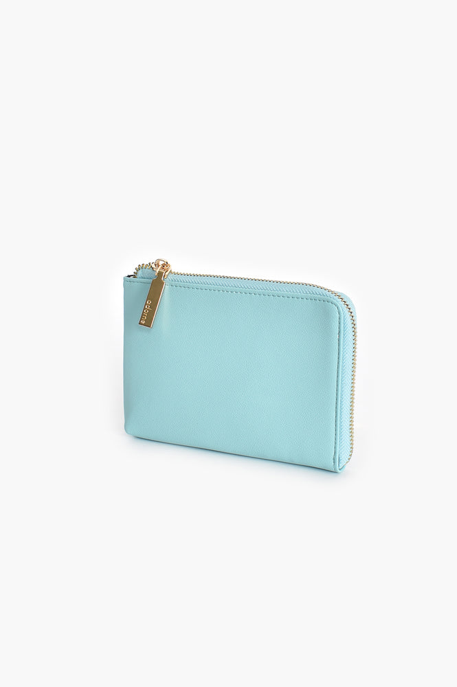 Small Zip Around Pouch (Aqua)