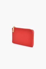 Small Zip Around Pouch (Red)