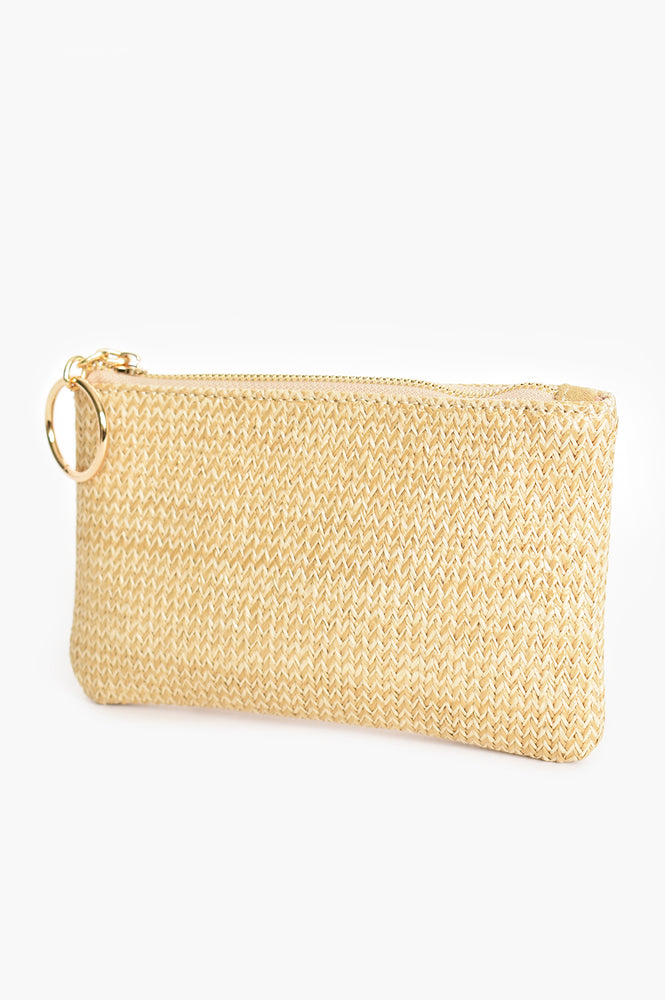 Alecia Ring Weave Pouch (Natural)