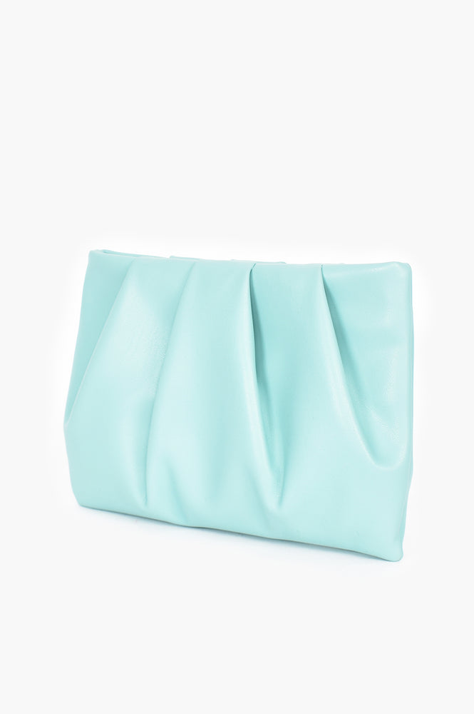 Brianna Pleat Pouch (Mint)