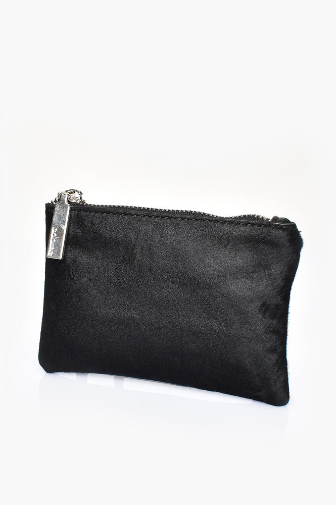 Hide Front Coin Purse (Black)