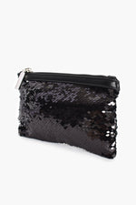 Sequin Trim Purse (Black)