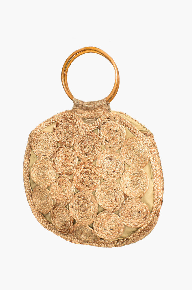 Natural Woven Circle Ring Basket (Natural)