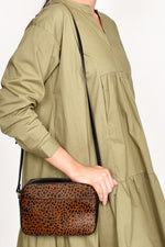 Hide Front Pocket Camera Bag (Leopard/Tan)