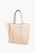 Almond Cut out Tote Bag (Nude)
