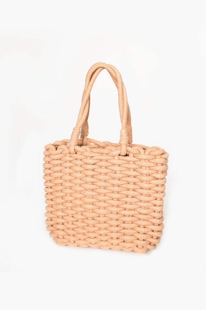 Cord Weave Small Basket (Natural)