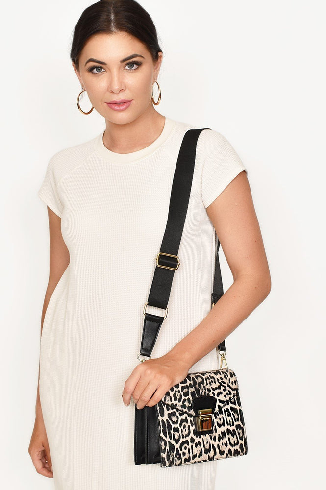 Accordion Mini Shoulder Bag (Nude/Zebra)