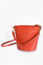 Mini Croc Fan Bag (Warm Coral)