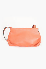 Pleated Bottom Cross Body Bag (Coral)