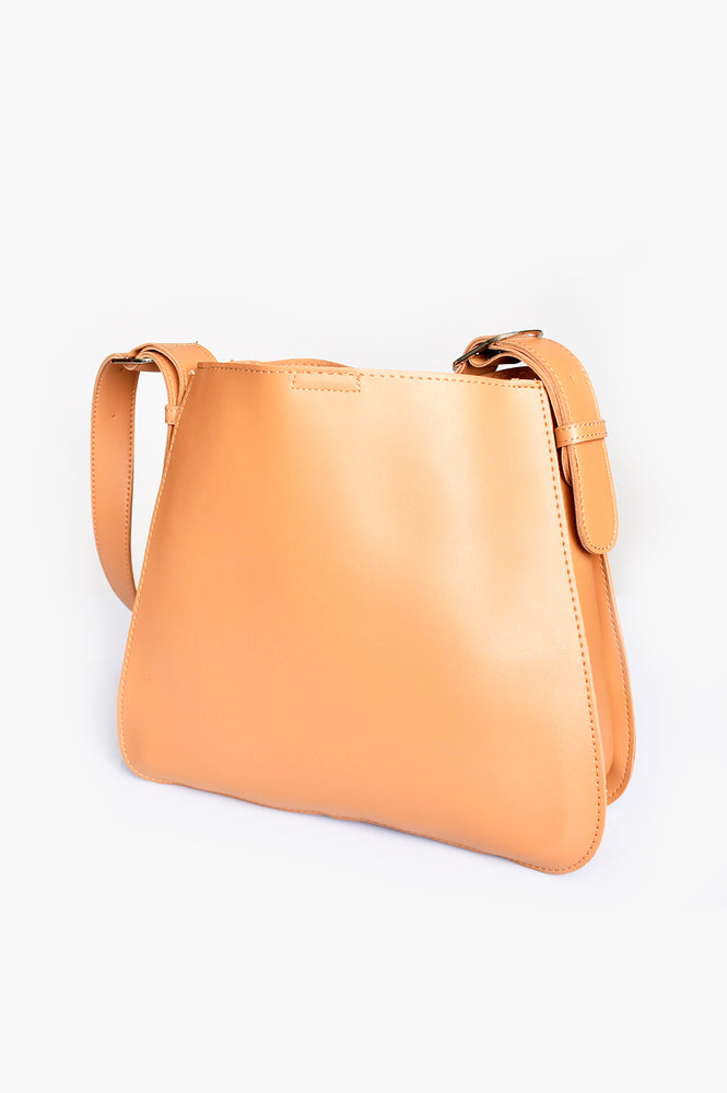 Belted Strap Everyday Bag (Toffee)